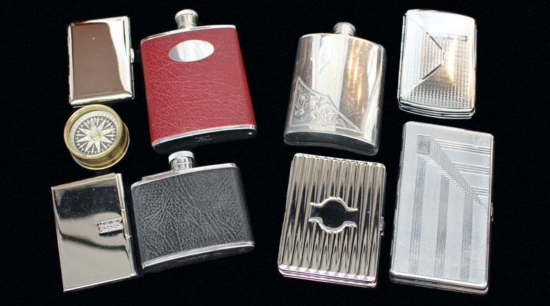 Hip Flasks & Compasses from Esme Camden Passage